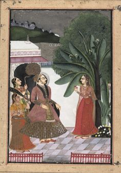 "Shri Rama Putra Raga: Page from the Dispersed ""Boston"" Ragamala Series (Garland of Musical Modes). Date: ca. 1760. India (Rajasthan, Kota or Bundi). ""Shri Rama Putra son of Dipak Raga, to be sung in the evening."""