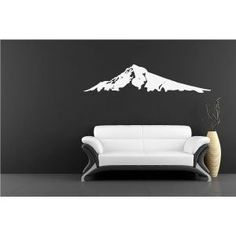 Snow Mountain Huge Wall Vinyl Decal
