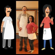 Bob and Linda Belcher from Bob's Burgers | 31 Two-Person Costume Ideas That'll Up Your Halloween Game