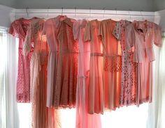lovely vintage pink dresses!