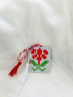 Embroidery, Christmas Ornaments, Holiday Decor, Handmade, Home Decor, Needlepoint, Hand Made, Decoration Home, Room Decor