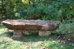 Stone Garden Bench - need to build this summer Stone Garden Bench, Stone Bench, Garden Inspiration, Garden Ideas, Nature Center, Stone Art, Benches, Natural Stones, Yard Decorations