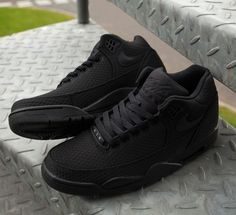 All black errythang. Introducing: the Nike Flight Squad trainer.