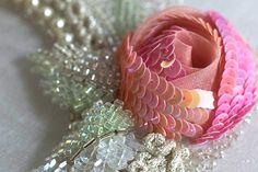 Technique de paillettes et De perles