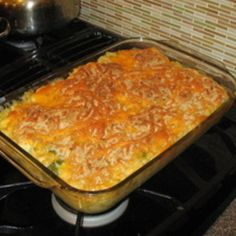 Chicken Spaghetti Casserole - easy recipe that is family tested & approved!