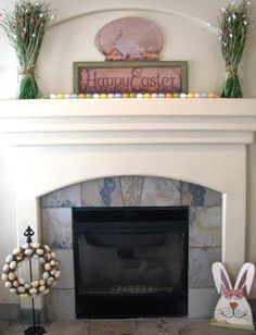 Mantel  Decorations : IDEAS &  INSPIRATIONS : Stylish Easter Mantel Decorating Ideas