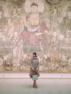 I tend to keep a busy schedule—I'm an assistant at Vogue by day and a fashion history blogger by night. My site, Part Nouveau, is dedicated to showcasing the phenomenal and sometimes little-known works of fashion's past. Not surprisingly, my wardrobe is comprised of all things old. While in grad school, I interned at the Costume Institute, so theMet holds a special place in my heart. Here I am in front of a great big mural painting depicting ...