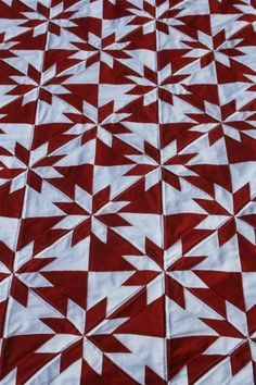 Hunter's Star Quilt...red & white version...love this.