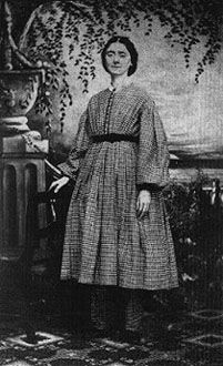 Lucy J. Russell (1830-1892), resident of Our Home on the Hill health center in Dansville, New York; c. 1864