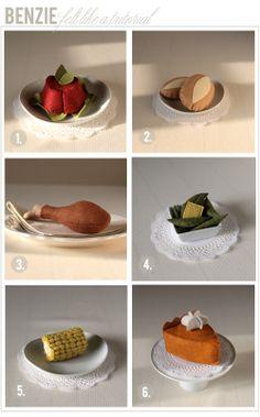 Felt food thanksgiving meal tutorial