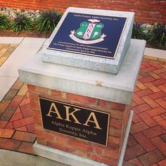 AKA podium in the National Pan-Hellenic Council Garden @ Wake Forest University