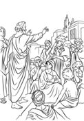 Saint Peter Coloring pages. Select from 32012 printable Coloring pages of cartoons, animals, nature, Bible and many more. Free Coloring Pages, Printable Coloring Pages, Rain Bow, Kids Church, Christianity, Saints, Bible, Cartoon, Animals