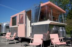 Vintage travel trailer turned into a girly tiny home? I really like the looks of these Holiday House campers. Built in 1960-62.