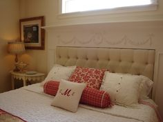 LOVE THE IDEA OF FIREPLACE MANTLE AND UPHOLSTERED HEADBOARD Home is Where the Heart is: ~Something New in the Bedroom~