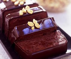 Chocolate-Peanut Butter Terrine with Sugared Peanuts - this is seriously insanely sinfully delicious Chocolate Terrine, Chocolate Desserts, Pelo Chocolate, Chocolate Peanut Butter, Peanut Recipes, Sweets Recipes, Gourmet Desserts, Just Desserts, Cupcakes
