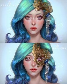 Aquarius Images, Aquarius Art, Aquarius Zodiac, 5 Anime, Anime Art, Beautiful Drawings, Cute Drawings, Female Character Design, Character Art