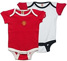 Manchester United Baby Body Sets with Club Crest One Red One White
