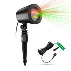 Joly Joy Christmas Laser Lights for Halloween, Class Ⅲ-A Star Projector with Light Sensor, 10 Modes IP65 Waterproof, FDA Approved (Green & Red)