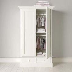 Classic Small Wardrobe | The White Company. My tween's tiny room will look great with this one.