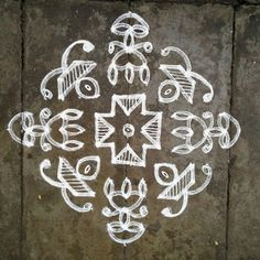 Rangoli designs/Kolam: [S.No Ner Pulli Lamp Kolam Indian Rangoli Designs, Simple Rangoli Designs Images, Rangoli Designs With Dots, Rangoli With Dots, Beautiful Rangoli Designs, Mehndi Designs, Kolam Dots, Lotus Rangoli, Mehndi Art