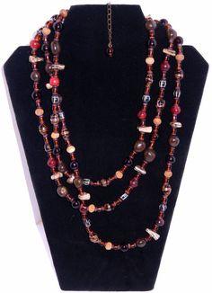 Vintage Designer Necklace Murano Glass Beads Stone Wood Resin #Unbranded #StrandString