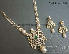 Simple rose cut diamonds opulent diamond long chain with magnificent peacock designer broad pendant, embellished with emeralds, round dia. Diamond Necklace Set, Diamond Pendant, Pearl Necklace, Gold Jewellery Design, Latest Jewellery, Indian Jewelry, Bridal Jewelry, Antique Jewelry, Jewelery