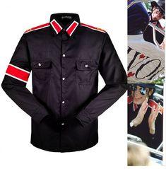 a2c0566a849d41 In Memory Michael Jackson MJ Black Retro CTE Anti-war Cotton Shirt  Stitchwork Sark Collection