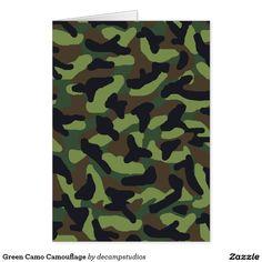 Green Camo Camouflage Card