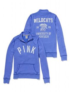 PINK University of Kentucky Half-Zip Pullover #VictoriasSecret http://www.victoriassecret.com/pink/university-of-kentucky/university-of-kentucky-half-zip-pullover-pink?ProductID=95483=OLS=true?cm_mmc=pinterest-_-product-_-x-_-x