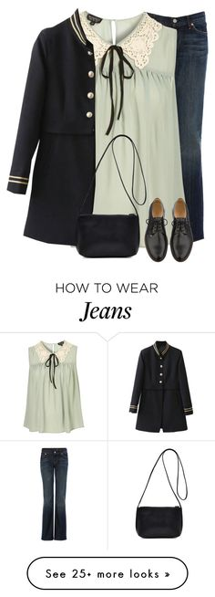 """""""Be Yourself And The World Will Adjust"""" by nightowl59 on Polyvore featuring 7 For All Mankind, A.P.C. and polyvoreeditorial"""