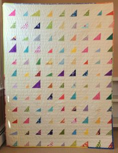 JuneBug's World: Color Shard Quilt. Modern Rainbow Quilt. Scrappy Quilt. Quilt of many colors.