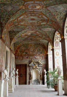 Palazzo Altemps - Rome, Italy (now National Roman Museum) decoration of the loggia after 1568