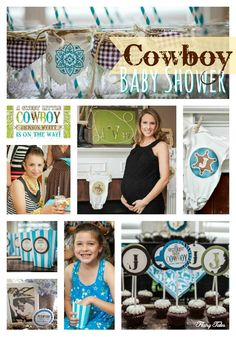 Ideas for hosting a cute Little Cowboy baby shower!