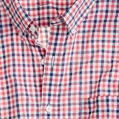 Secret Wash lightweight shirt in Halyard check $64.50