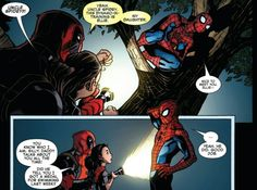 Deadpool Spidey and Ellie #spiderman #deadpool