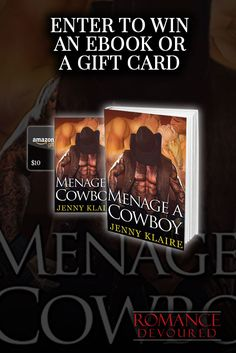 Win eBooks or choice of $10 Amazon, Barnes & Noble or Starbucks Gift Card from Author Jenny Klaire