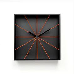 Prospettivo Wall Clock Black on Fab.
