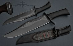 52 cm long bowie by Tomas Rucker