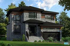 Maisons de prestige - Contemporaines à vendre   Construction Louis-Seize Model House Plan, Dream House Plans, House Floor Plans, Louis Seize, House Paint Exterior, Affordable Housing, Home Design Plans, Cool House Designs, Dream Rooms