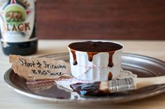 Sriracha & Stout BBQ Sauce -- not exactly a meal, but the start to one...that you can prep ahead and store in the fridge. Two faves coming together!