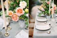 Romantic Wedding Tablescape - Dreamy Garden Wedding Inspiration with a Hint of…