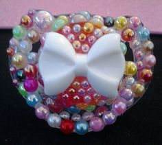 Bling Baby Pacifier by PinkKittyCases on Etsy, $15.00