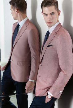 Made to Measure clothing for men Pink Blazer Men, Maroon Blazer, Pink Blazer Outfits, Red Tuxedo, Stylish Mens Outfits, Sharp Dressed Man, Blazers For Men, Men Dress, Spring Summer