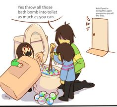 If Frisk is Neutral Good, and Chara is Chaotic Evil, Kris is Chaotic Good. Undertale Comic Funny, Undertale Memes, Undertale Cute, Undertale Fanart, Frisk, Kfc, Chara, Academia Hero, Undertale Drawings