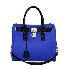 What can I say I really like the Michael Kors Hamilton Large Blue Totes. #MichaelKorsBags