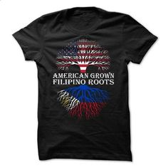American Grown - Filipino Roots - #tshirt logo #sweater for fall. I WANT THIS => https://www.sunfrog.com/States/American-Grown--Filipino-Roots.html?68278