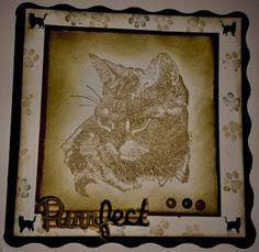 Hobbyloftet : Monokromatisk  kort I Card, About Me Blog, Frame, Decor, Picture Frame, Decoration, Decorating, Frames, Deco