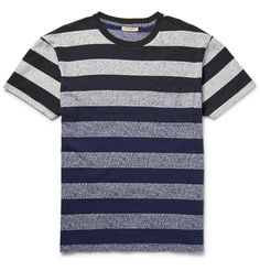 Levi's Made & Crafted - Speckled Striped Cotton T-Shirt|MR PORTER