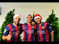 RAFINHA, ALBA I NEYMAR SÓN ELS REIS MAGS  Els tres Reis d´Orient més divertits que podria desitjar qualsevol nen del Barça estan preparats per deixar tots els regals.