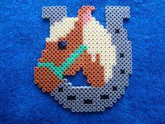 Horse hama beads by rainbow186